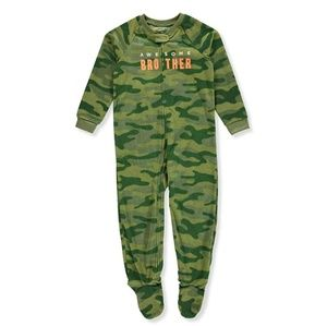 "Carter's one piece camo footie ""awesome brother"""